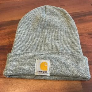 Light Gray Carhartt Beanie Hat